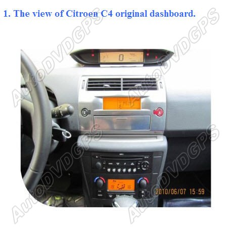 how to install car dvd gps player on your citroen c4. Black Bedroom Furniture Sets. Home Design Ideas