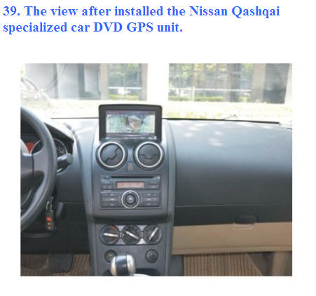 how to install nissan qashqai dvd gps navi player qualir blog. Black Bedroom Furniture Sets. Home Design Ideas