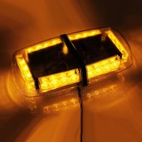 LED Strobe Amber Emergency Warning Mini Strobe Light Bar Magnetic Base, Yellow