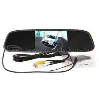 4.3 Inch Car LCD Screen Rear View DVD AV Monitor Mirror with 2CH Video input Auto switch