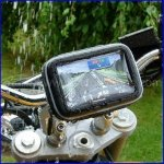 "5"" Waterproof 360 Motorcycle Bike Cycling GPS SAT NAV Case/Bag /Mount Holder"
