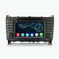Mercedes-Benz C Class W203(2004-2007) Android 4.4.4 Car DVD Player GPS Navigation Stereo with 7 Inch HD Capacitive Touchscreen