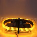Rupse LED Amber Emergency Hazard Warning LED Mini Bar Strobe Light / Magnetic Base