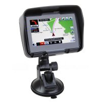 "Rupse Waterproof IPX7 Portable Universal Motorcycle 4.3"" Touch Screen GPS Nav Navigation Navigator With Free Map Multimedia Player Mp3 Video Bluetooth Built In Speaker For Motor Bike Car Black"