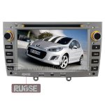 Car DVD Navigation Systems with 7 Inch Digital Touch screen and iPod SWC BT RDS for Peugeot 308