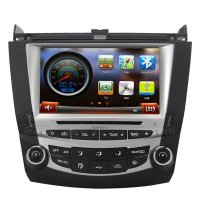 8 Inch Koolertron Digital HD Touchscreen DVD GPS Navigation System with iPod BT Control for 7th 2003-07 Honda Accord Single Zone