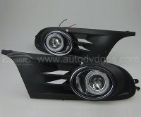 CCFL Angel Eyes Projector Fog Lamps for 11-12 VW Golf 6