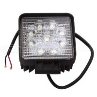 27W Square LED Work Light Lamp Off Road High Power ATV Jeep 4x4 Tractor Truck (30 Degree)Spot Light