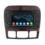 7 Inch HD Android 4.4.4 Car DVD Player GPS Navigation Stereo for Mercedes-Benz S-Class S280 S420 S430 S320 S350 S400 S500 S600 W220 1999-2006 CL W215 1998-2005