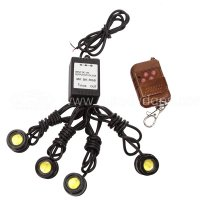 4 Pcs LED 2Blue-2Red Eagle Eye Knight Night Rider Scanner Lighting DRL with Remote