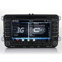 Indash 3G WIFI DVD GPS player with Digital Monitor RDS iPod BT for PASSAT B6