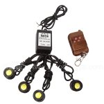 4 pcs White LED Eagle Eye Knight Night Rider Scanner Lighting DRL with Remote