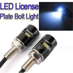 One pair of White LED License Plate Screw Blot Light For Motorcycle and cars
