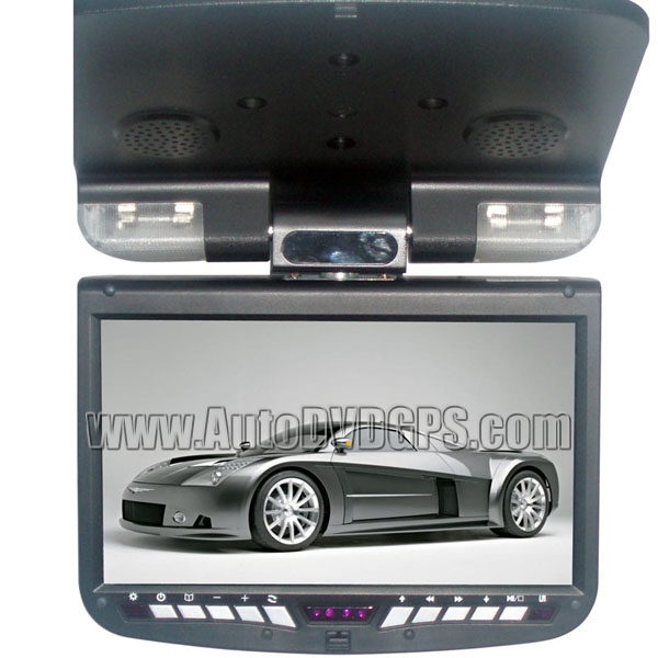 9 Inch Roof-mounted Monitor With DVD Player Gray