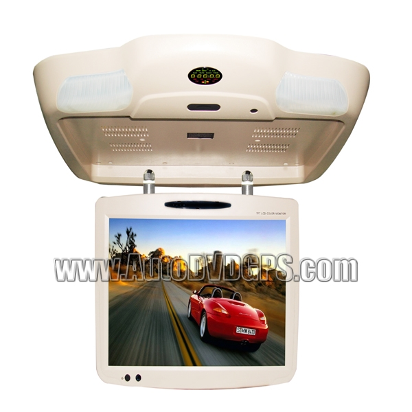19 Inch TFT-LCD Roof-mounted Monitor with DVD Player