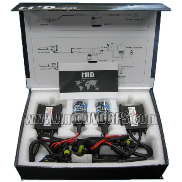 HID Xenon Headlight Conversion Kit with 6000K, 35W, Single Bulb with Slim Ballast