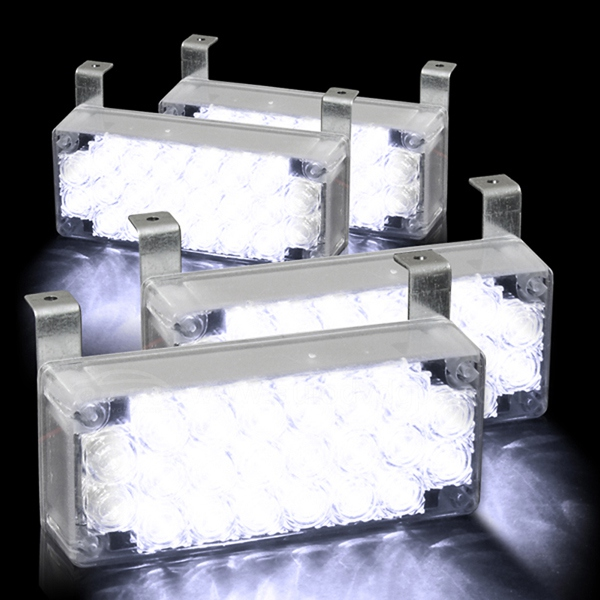 88 LED White Flashing Emergency Strobe Lights for Front Grille/Deck