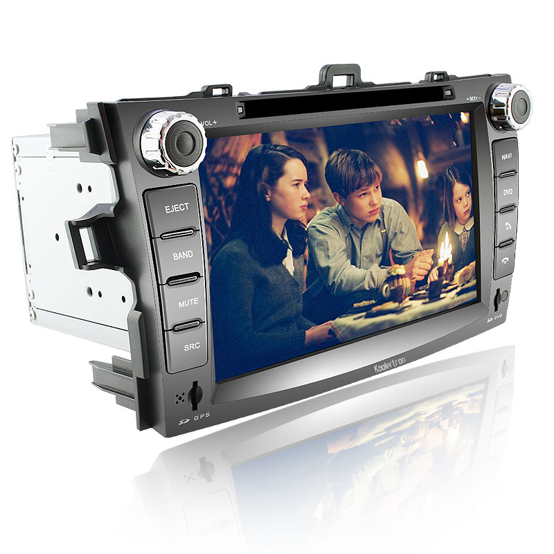 Koolertron Car DVD Player with GPS Navigation system 8 Inch HD Touchscreen for Toyota Corolla - iPod PIP RDS Virtual-CDC
