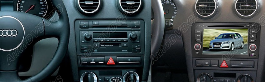 Audi A3 dashboard radio DVD