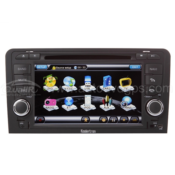 Audi A3 DVD,GPS Navigation player,with 7 Inch Digital Touchscreen,PIP RDS Bluetooth