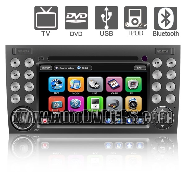 7 Inch Touchscreen DVD Player with GPS Navigation and BT iPod FM PIP RDS for BENZ SLK-W171