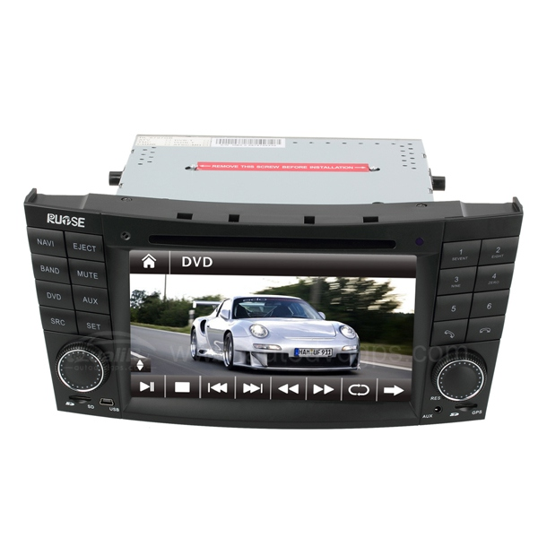 7 Inch HD Touch Screen DVD GPS Navigation System with iPod Bluetooth for MERCEDES Benz E-Class W211 2002-2008 E55 AMG E320 E320 E300 E63 E500 E350 CLS W219 2005-2006 CLK W209 2005-2006 G-CLASS