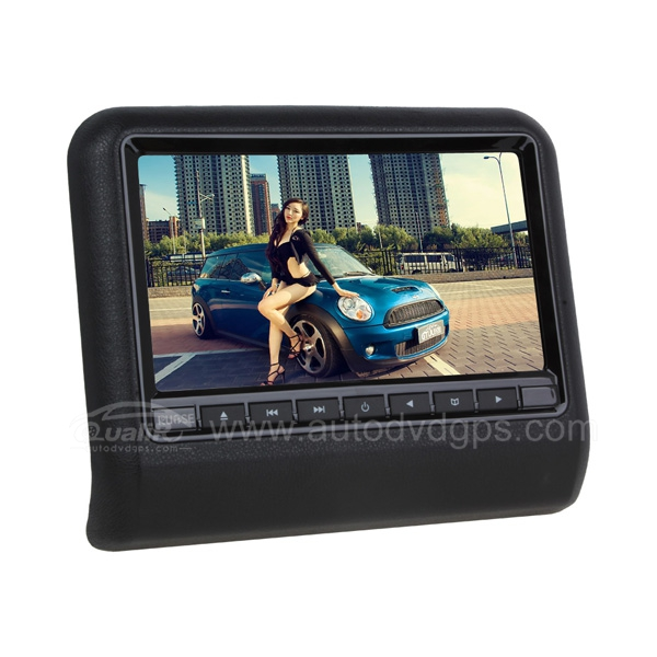 800*480 9inch Car slot-in Headrest monitor with DVD CD MP3 Player, IR transmitter,speaker
