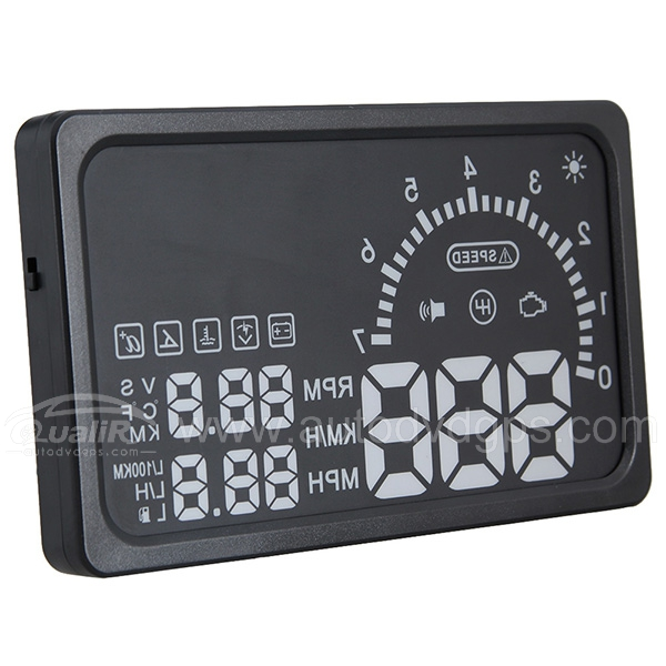 NEW Universal 6 Inches Car HUD Vehicle OBD-2 Fuel Icon Head Up Display