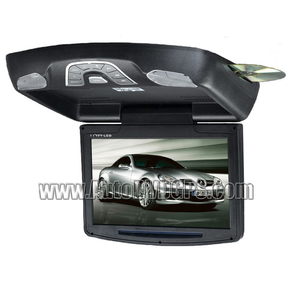11 Inch HD Roof-mounted DVD Player Monitor, Games Support,  Black