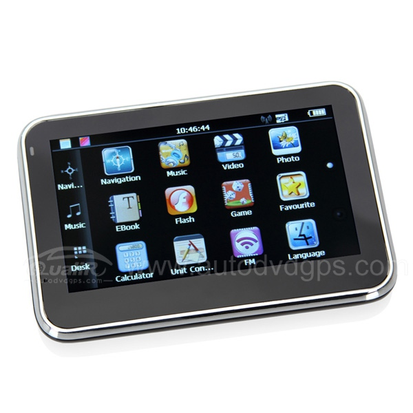 "4.3"" TFT Color Touch Screen GPS Navigator With FM Transmitter"