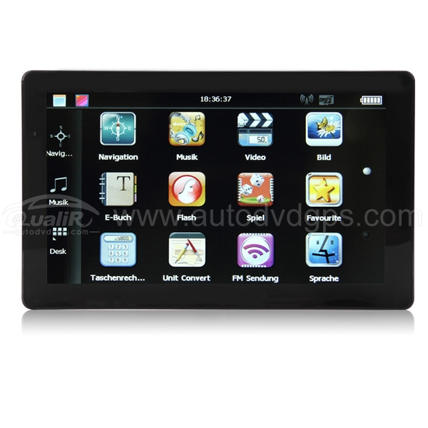 "Portable Car GPS Navigator With 7"" TFT Touch Screen FM Transmitter"