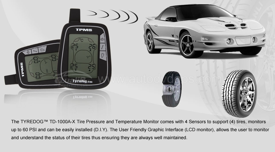 Tire Pressure Monitor System with 4 External sensors