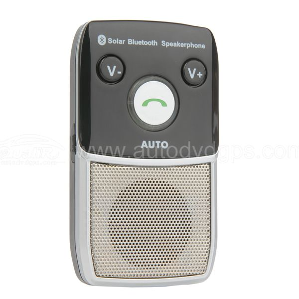 SOLAR Bluetooth Handsfree Car Kit Built-in Microphone With Speaker for Samsung HTC SONY Apple Nokia MOTOROLA