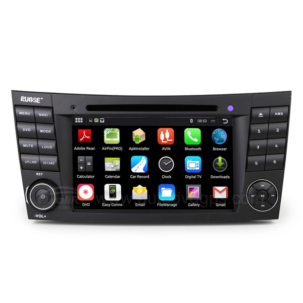 7 Inch Android 4.4.4 Car DVD Player GPS Navigation Stereo For Mercedes Benz E-Class W211(2002-2008), CLS W219(2005-2006), CLK W209(2005-2006), G W463(2001-2008)