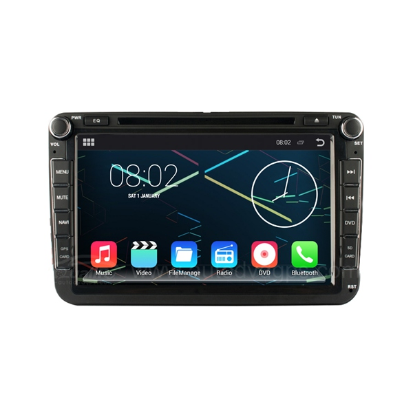 8 inch Android 4.4.4 Car DVD Player GPS Navigation Stereo 1024*600 for VW Volkswagen Passat B6 / B7 / Passat CC / Polo / Golf / Caddy / Turan / Skoda / EOS / Bora