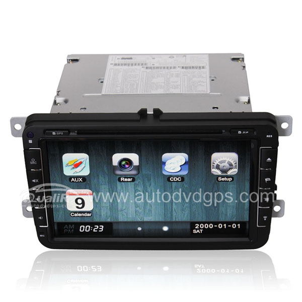 VW Series Car DVD GPS player with 8 Inch Digital Touch Screen Monitor RDS BT