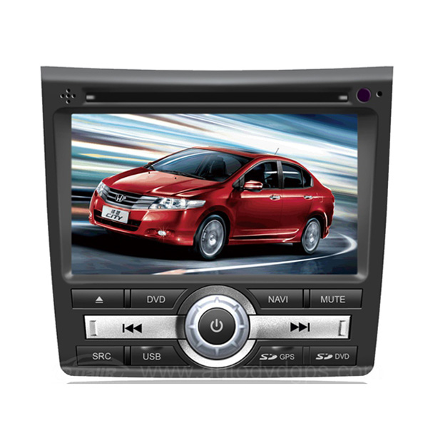 Aftermarket OEM 2008-2012 HONDA CITY Car DVD player with 6.2 Inch HD Touchscreen Monitor GPS Navigation system