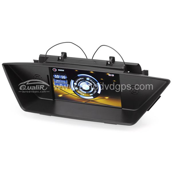 Upgrade Multimedia Navigation System with 7 Inch TFT LCD Touchscreen Monitor Bluetooth Music Support 1080p Video For 2009-2012 BMW X1 E84