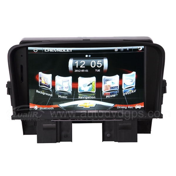 Upgrade Multimedia Navigation System with 7 Inch TFT-LCD Touchscreen Monitor Bluetooth Music Support 1080P Video USB for Chevrolet Cruze
