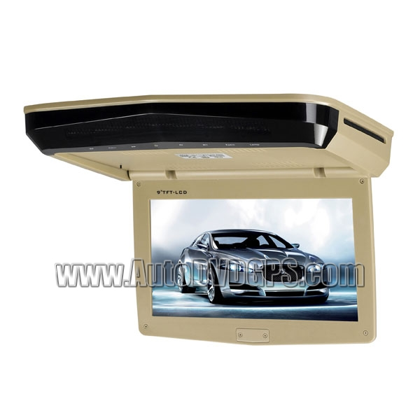 9inch  Slim Roof-mounted DVD Player Monitor With Touch Keys Beige