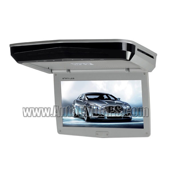 9inch  Slim Roof-mounted DVD Player Monitor With Touch Keys Gray