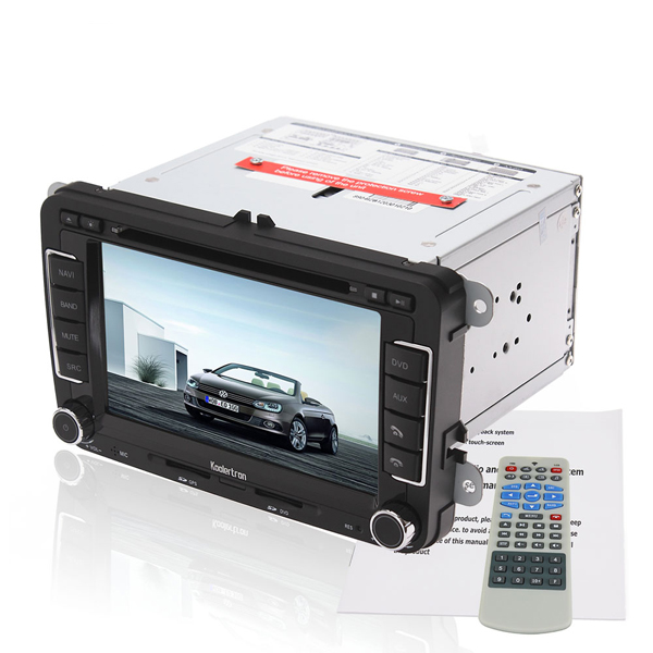 Koolertron 7 Inch Digital Touch screen DVD GPS player with BT iPod CAN-BUS and optional RDS-TMC for VW GOLF 5 6