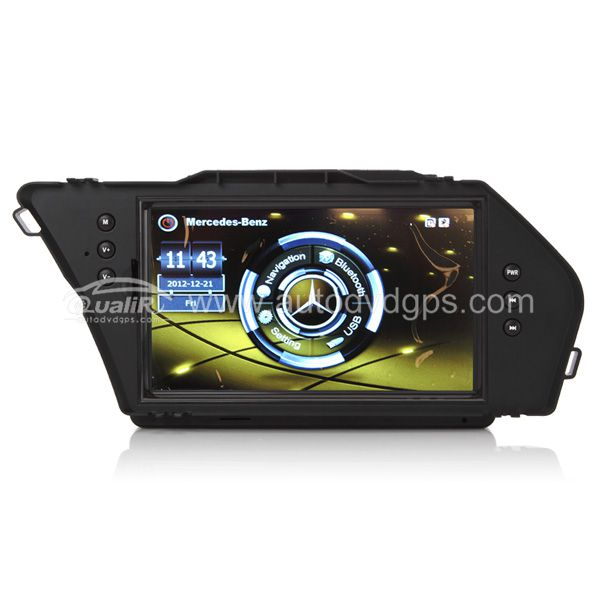 Upgrade Multimedia Navigation System with 7 Inch TFT LCD Touchscreen Monitor GPS USB Bluetooth Music Support 1080P Video For 2010-2012 Benz GLK 300
