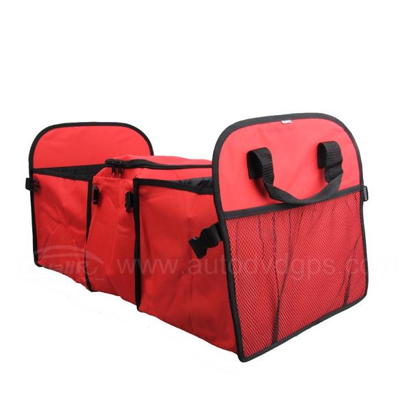 Multifunction Polyester Cloth Foldable Car Organizer Vehicle Trunk Storage Bag