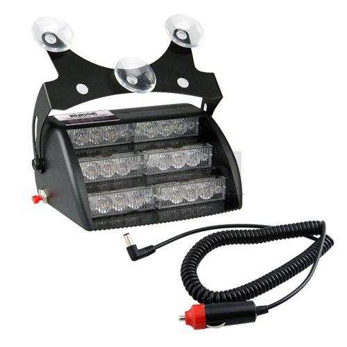 18 LED 2 Colors Emergency Vehicle Strobe Lights for Windshields Dashboard