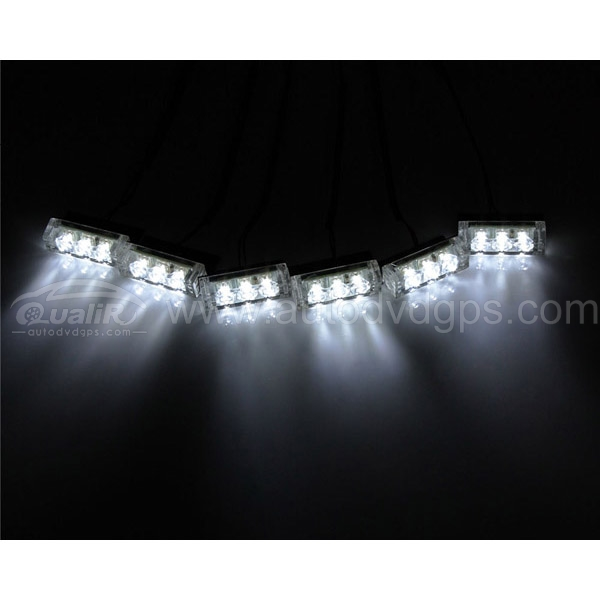 18 LED Emergency Vehicle Strobe Lights for Front Grille/Deck ,White