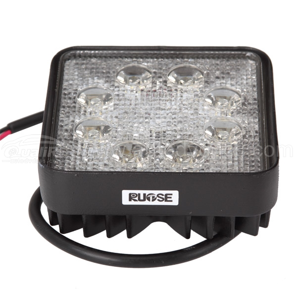 24w Square LED Offroad Driving Work Flood Light Lamp Jeep Truck Boat Lamp 12V 24V Waterproof