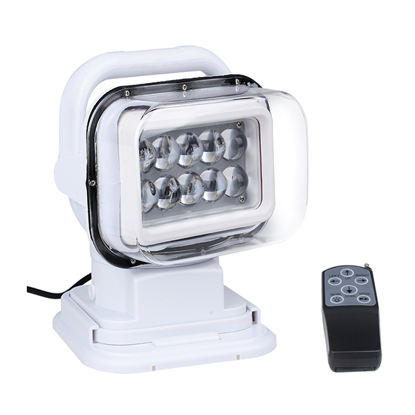 360 Degree Rotating 50W Cree Led Search Light Remote Control Spot Work Light For Hummer Jeep And Other Off-road Vehicles or Trucks Boat