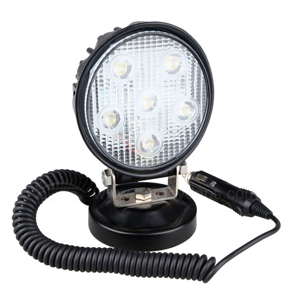 18W Led Search Light Spot Work Light With Magnetic Base For Hummer Jeep And Other Off-road Vehicles or Trucks Boat