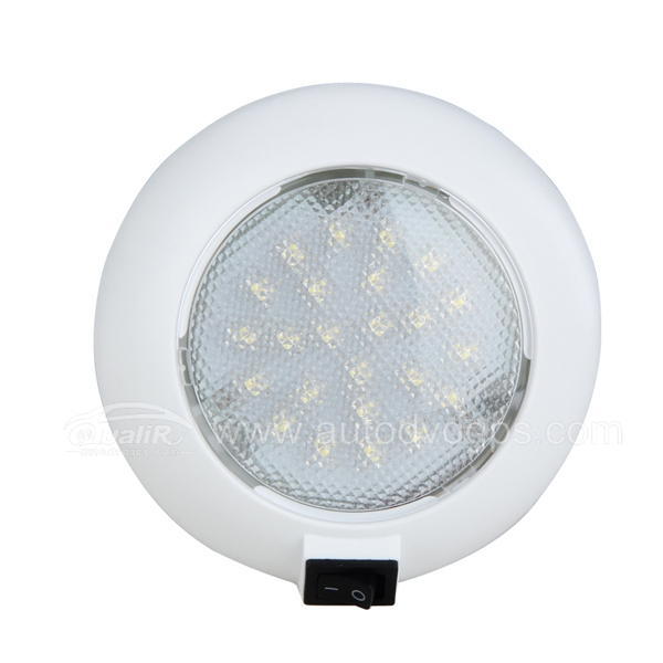 12V 24pcs LED Car Vehicle Indoor Roof Ceiling Lamp circular warm Lighting